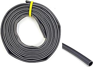 "WindyNation 1/8"" 20 Feet Black 3:1 Dual Wall Adhesive Glue Lined Marine Grade Heat Shrink Tube Tubing"