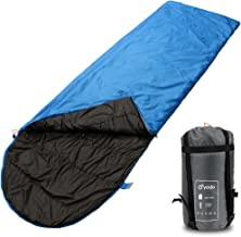 yodo Compact Warm Weather Sleeping Bag for Outdoor Camping Hiking Backpacking Travel with Compression Sack for Women and Men,60-80 Degree F