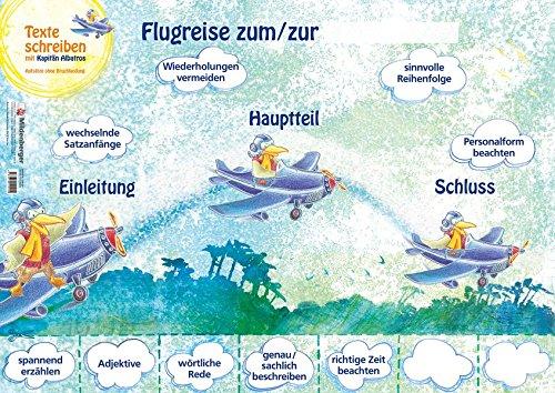 Texte schreiben mit Kapitän Albatros – Poster: Aufsatzerziehung ohne Bruchlandung