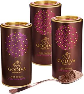 Godiva Chocolatier Dark and Milk Hot Cocoa Variety Pack, Rich Hot Chocolate, Premium Hot Cocoa, Set of 3, 14.5 Ounces