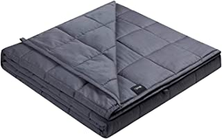 ZonLi Adults Weighted Blanket 20 lbs(60''x80'', Grey, Queen Size), Cooling Weighted Blanket for Adult, Soft Material with ...