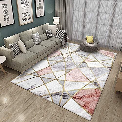Superweicher Rechteck Teppich Baby Krabbeln Verdickung rutschfest Waschbar Für Schlafzimmer Wohnzimmer Kinderzimmer Dekor Matte (Farbe: A, Größe: 160X200Cm)