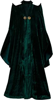 Women's Witch Halloween Cosplay Costume Wizard Sorceress Cloak Robe Coat