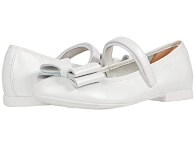 Geox Kids Plie 59 (Little Kid/Big Kid) (White) Girl