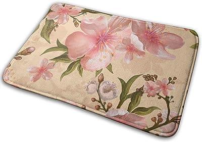 """Watercolor Flower Doormat Non Slip Indoor/Outdoor Door Mat Floor Mat Home Decor, Entrance Rug Rubber Backing Large 23.6""""(L) x 15.8""""(W)"""