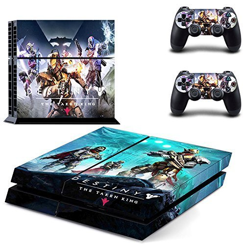 Lucky Store Brand New Destiny The Taken King Designed Skin Sticker Decals for Sony PS4 PlayStation 4 Console and 2 Controllers Skin Covers