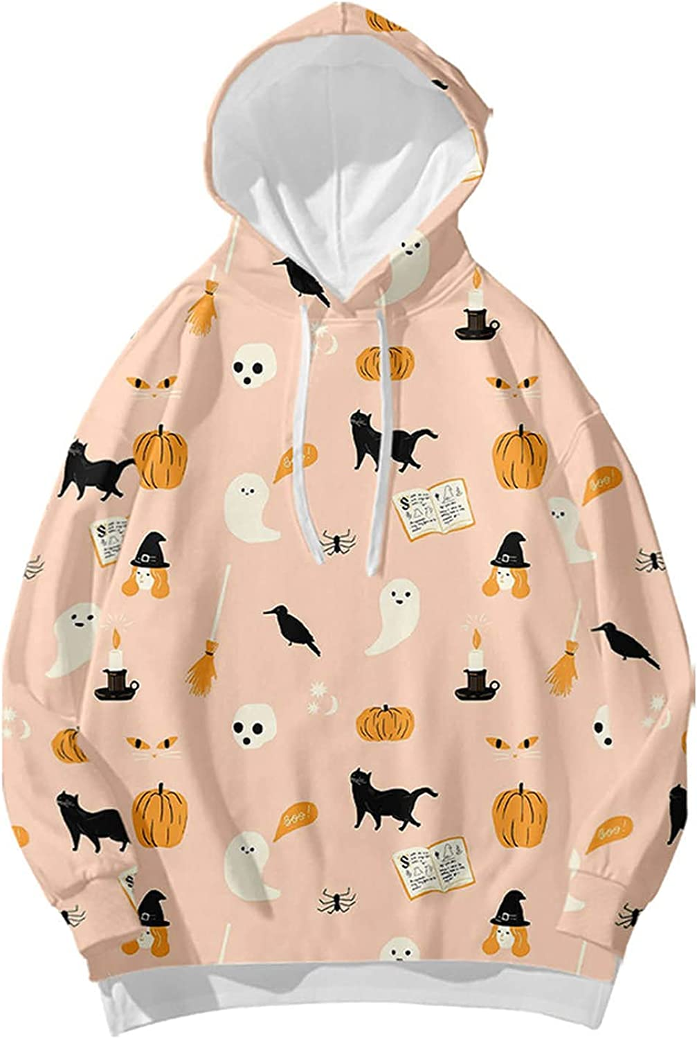 GXLONG Hoodies Max 58% OFF for Women Pullover Halloween Horror Print Pumpkin Limited price