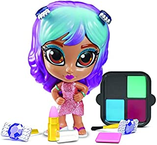 Shimmer and Sparkle Insta Glam Makeup Dolls Hayley, Multicolor, 7262
