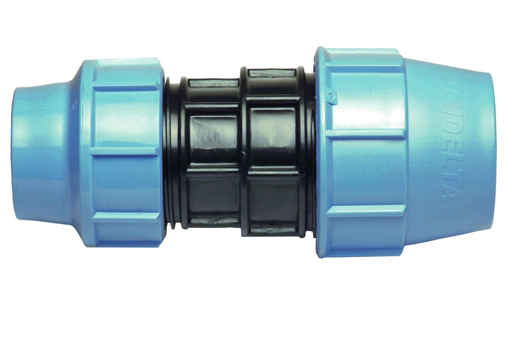 Conector de tuber/ía de agua en T con tres salidas hembras//abrazaderas//conector en T para tuber/ías de PE MDPE