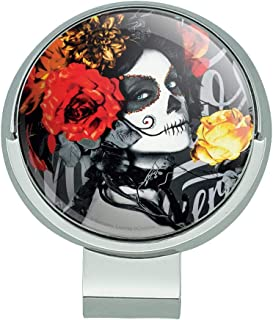 GRAPHICS & MORE Dia de Los Muertos Day of The Dead Woman Tattoo Golf Hat Clip with Magnetic Ball Marker