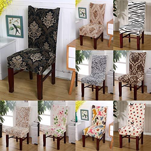 Home Living - Funda protectora para silla de fiesta, diseño floral, elástica, extraíble, lavable, sin brazos, para decoración de comedor
