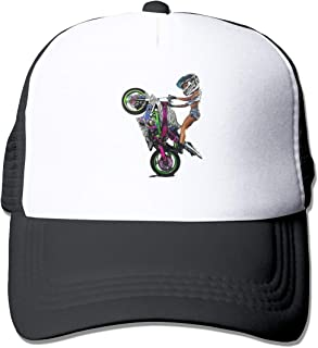 Ophelia Cornell Beautiful Woman and Motorcycle Unisex Trucker Hat Fashion Mesh Cap Adjustable Hip-hop Baseball Cap Black