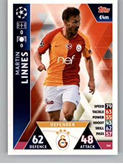 2018-19 Topps UEFA Champions League Match Attax #368 Martin Linnes Galatasaray S.K. Official Futbol Soccer Card