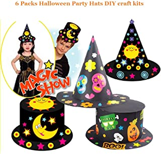 Halloween Party Hats Making Activity Kit – DIY Craft Set,Fun Celebration Kit for Kids, Great as Handmade Decoration and Gifts, Group Activities, Game and Party Supplies for Boys & Girls