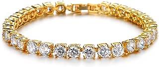 Tennis Crystal Bracelet for Women Charm Men Rose Gold Zirconia Bracelets Gift Jewelry