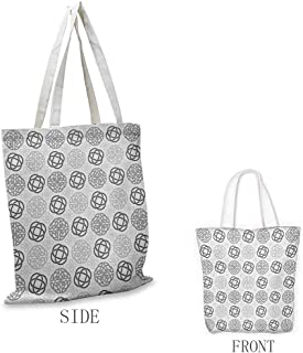 Celtic Pattern shopping bag Traditional Ireland Round Cross Celtic Love Knots with Shamrock Motifs Art Pattern Great for shopping W15.75 x L17.71 Inch Grey White