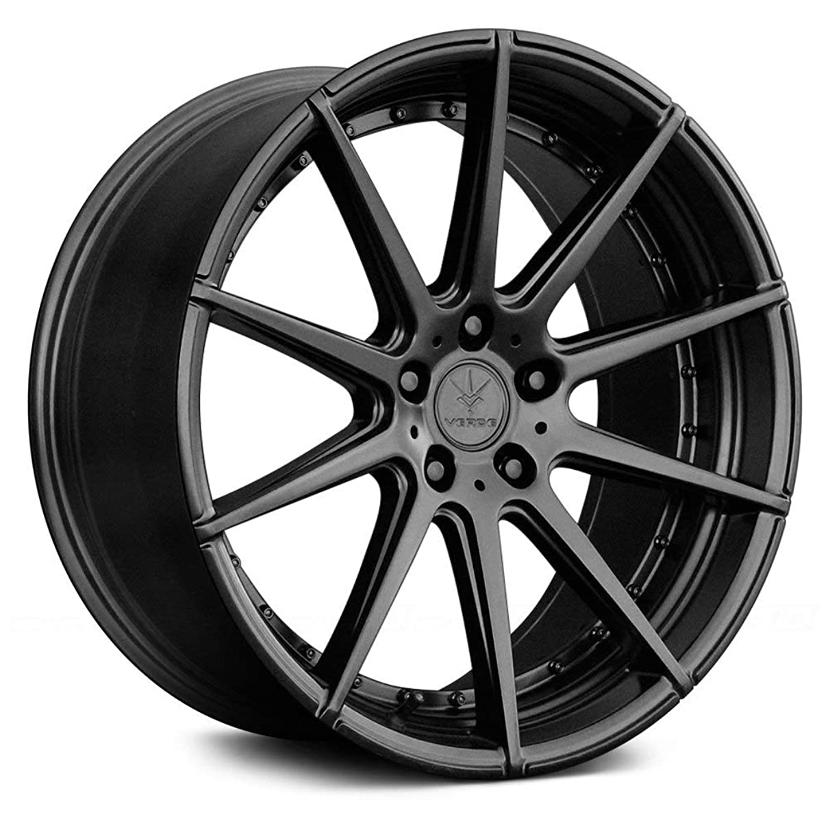 Verde Custom Wheels Insignia Satin Black Wheel with Painted Finish (20 x 9. inches /5 x 120 mm, 20 mm Offset)