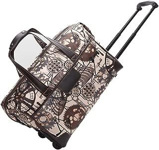 Ladies Travel Holdall Bags Hand Luggage Womens Weekend Wheeled Trolley Handbag