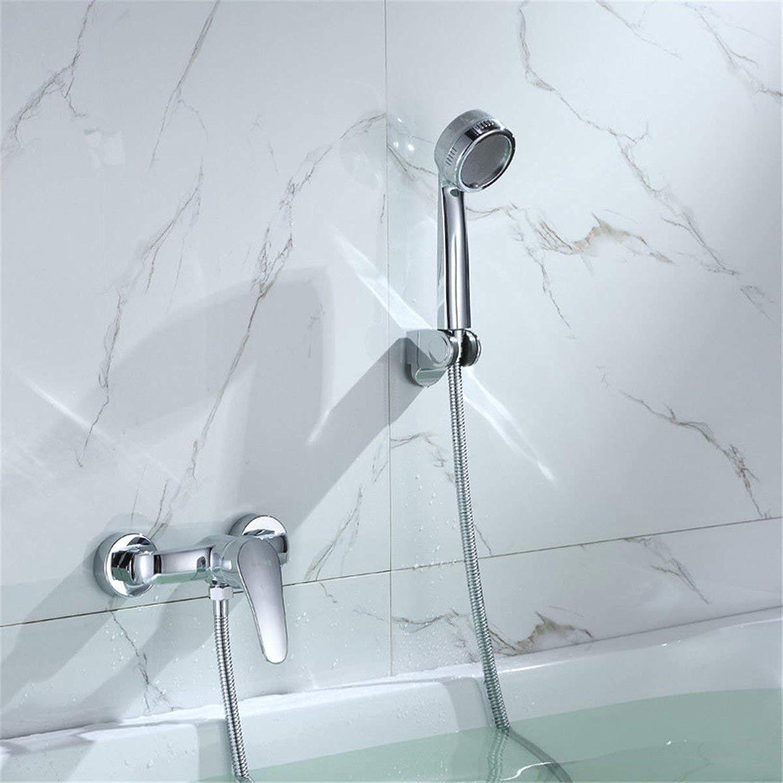 DOJOF Bathroom Sink Mixer Tap Rain Shower Set Booster Handheld Nozzle Brass Hot and Cold Water Bathtub Taps for Bathroom Sink