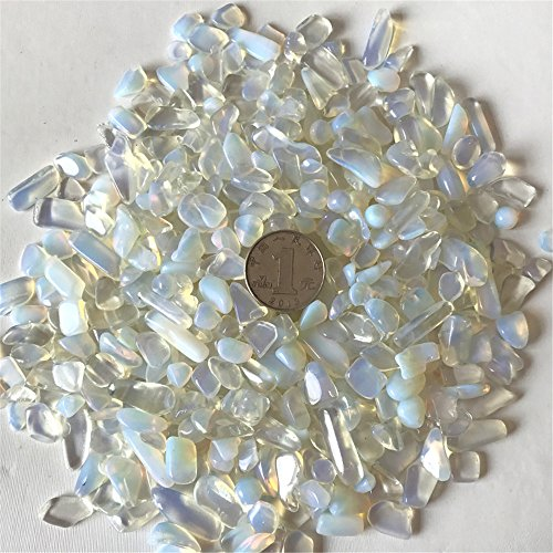 AITELEI 1 lb natürliche Opal getrommelt Chips zerkleinerte Stein Healing Reiki Kristall unregelmäßige geformte Steine Schmuck Machen Heimtextilien