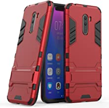 Case for Xiaomi Pocophone F1 (6.18 inch) 2 in 1 Shockproof with Kickstand Feature Hybrid Dual Layer Armor Defender Protect...