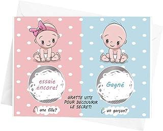 Crintiff - Carte à gratter annonce sexe de bébé pour fille ou garçon, avec un design de bébé - Gagné ou essaie encore - pa...