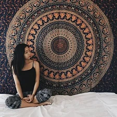 Mandala Tapestry Indian Hippie Hippy Wall Hanging Bohemian Twin Wall Tapestry