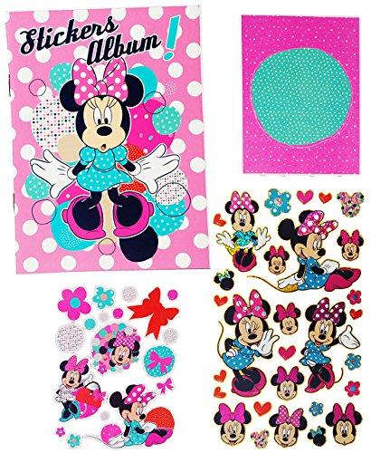 alles-meine.de GmbH Sticker & Stickeralbum -  Disney - Minnie Mouse  - Stickerbuch - Aufkleber - Maus / Playhouse - Daisy - Stickerheft Blanco mit leeren Seiten für Mädchen - S..
