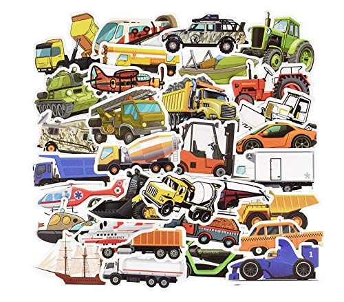 200 Stks Transport Cartoon Sticker Speelgoed Voor Jongens Auto Schip Vliegtuigen Anime Sticker Voor Diy Kinderspeelgoed Kamer Leren Verkeer Gereedschap