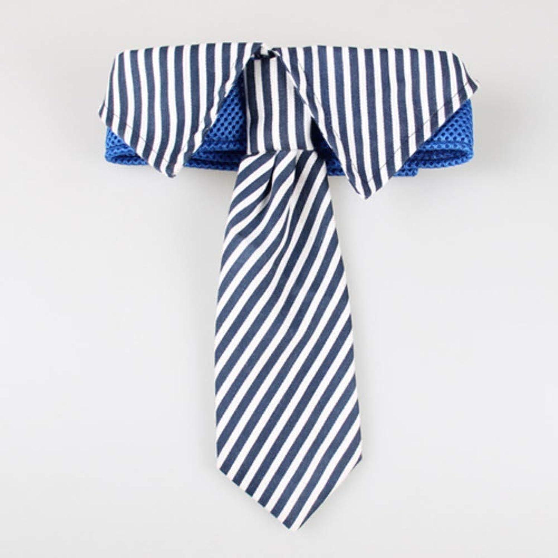 CVXBZB 30PC quality Large Dog Ties Stripes Big Dog Neckties Adjustable Bowties Collars Pet Supplies,bluee