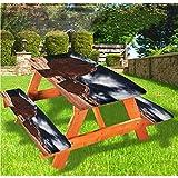 LEWIS FRANKLIN Tenda da doccia Canyon Deluxe Picnic Table Covers,Rocks and Boulders View Elastic Edge Tovaglia, 68 x 172 cm, Set di 3 pezzi per tavolo pieghevole