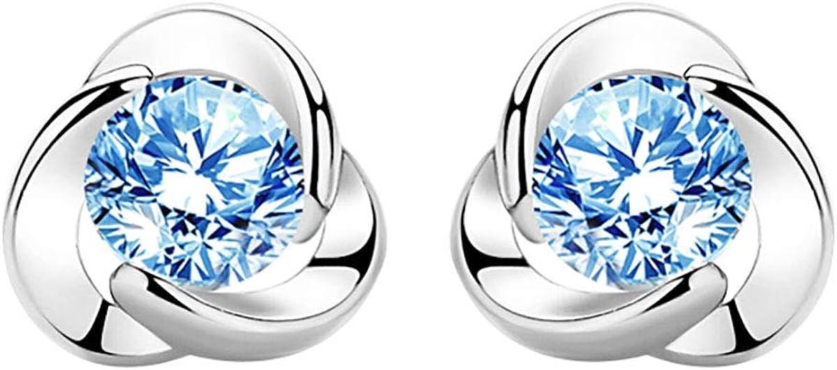 store Stud Earrings for Women's Gifts Diam Snowflake Rose Clover Over item handling Heart