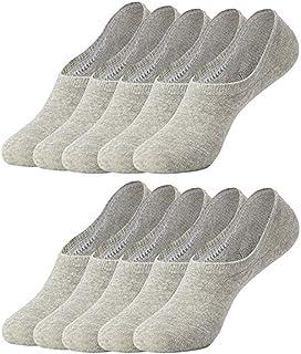 SHINEHUA 10 Paar Sneaker Socken Damen /& Herren Schwarz Wei/ß Sportsocken Atmungsaktiv Unsichtbare Kurzsocken Silikonpad Verhindert Verrutschen