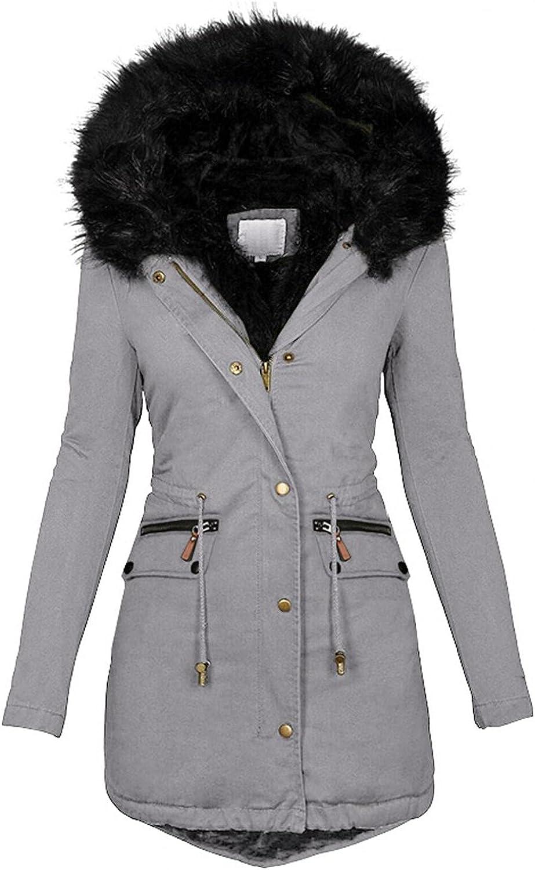 Wool Trench Coat Women Plus Size Faux Fur Lined Windbreaker Jacket Outwear Solid Thicker Coat Winter Warm Slim Overcoat