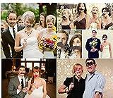 JZK 25 Photo Booth Props mit Rahmen, Brillen Lippen Krawatte Masken Hut Foto Requisiten Foto Accessoires für Hochzeit Geburtstag Taufe Babyparty Weihnachten Neujahr - 4