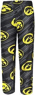 Iowa Hawkeyes Adult NCAA Grandstand Pajama Pants - Black , Medium
