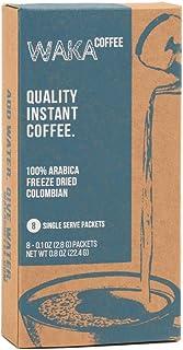 Sponsored Ad - Waka Coffee Quality Instant Coffee, Colombian, Medium Roast | 100% Arabica, Freeze Dried, 8 Single-Serve Pa...