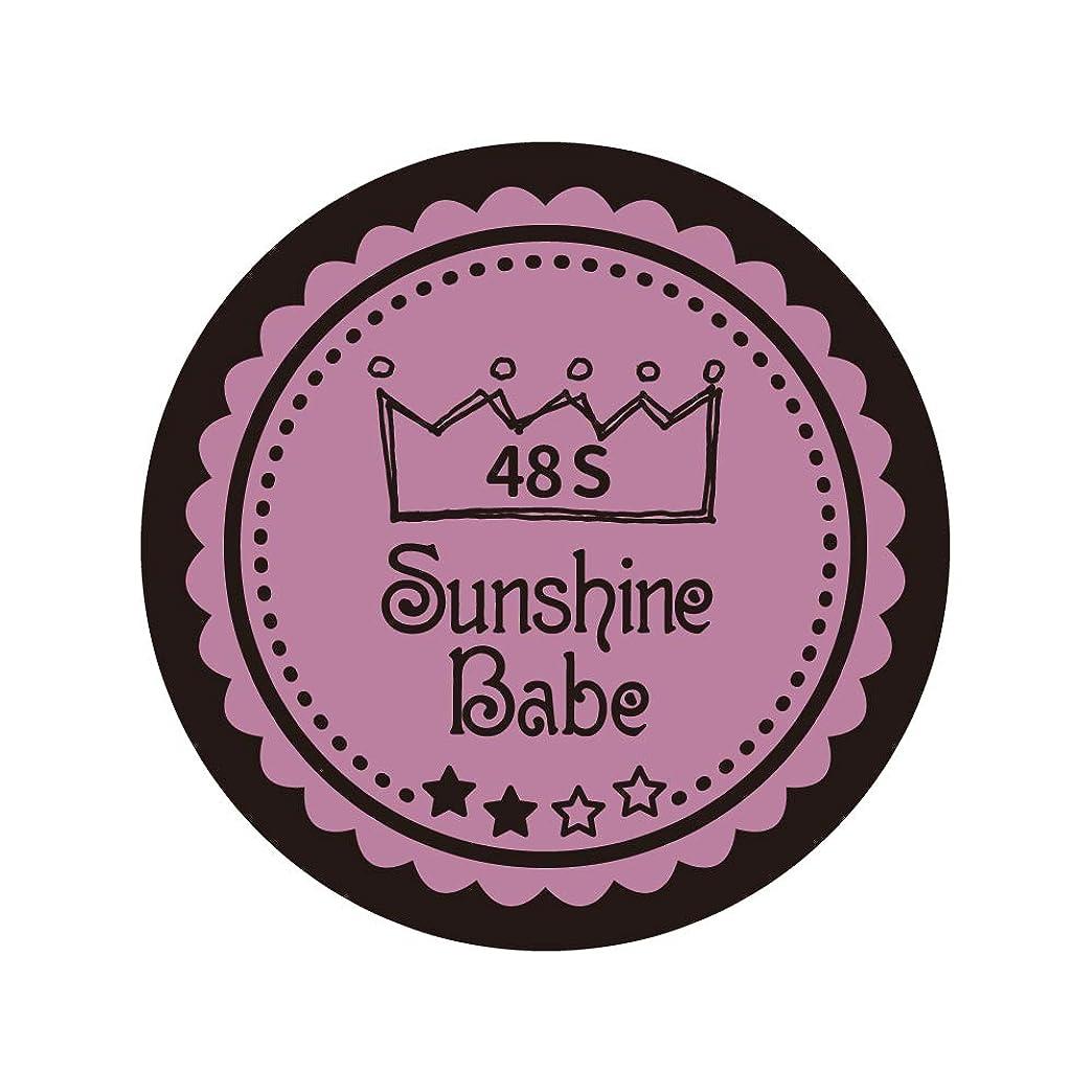 レシピ寝室を掃除するカウントアップSunshine Babe カラージェル 48S ペールモーブ 2.7g UV/LED対応