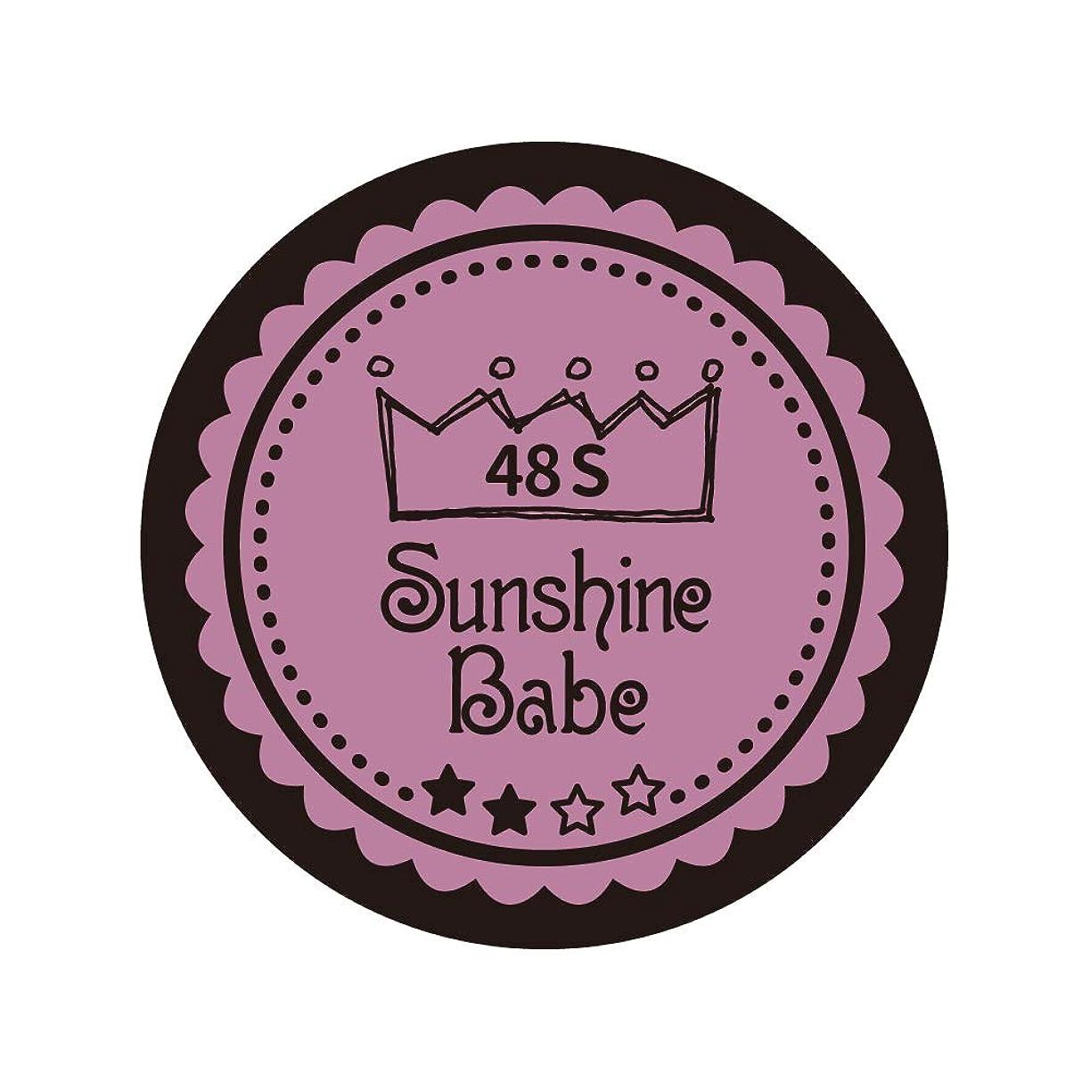 抵抗力がある頬誤解させるSunshine Babe カラージェル 48S ペールモーブ 2.7g UV/LED対応