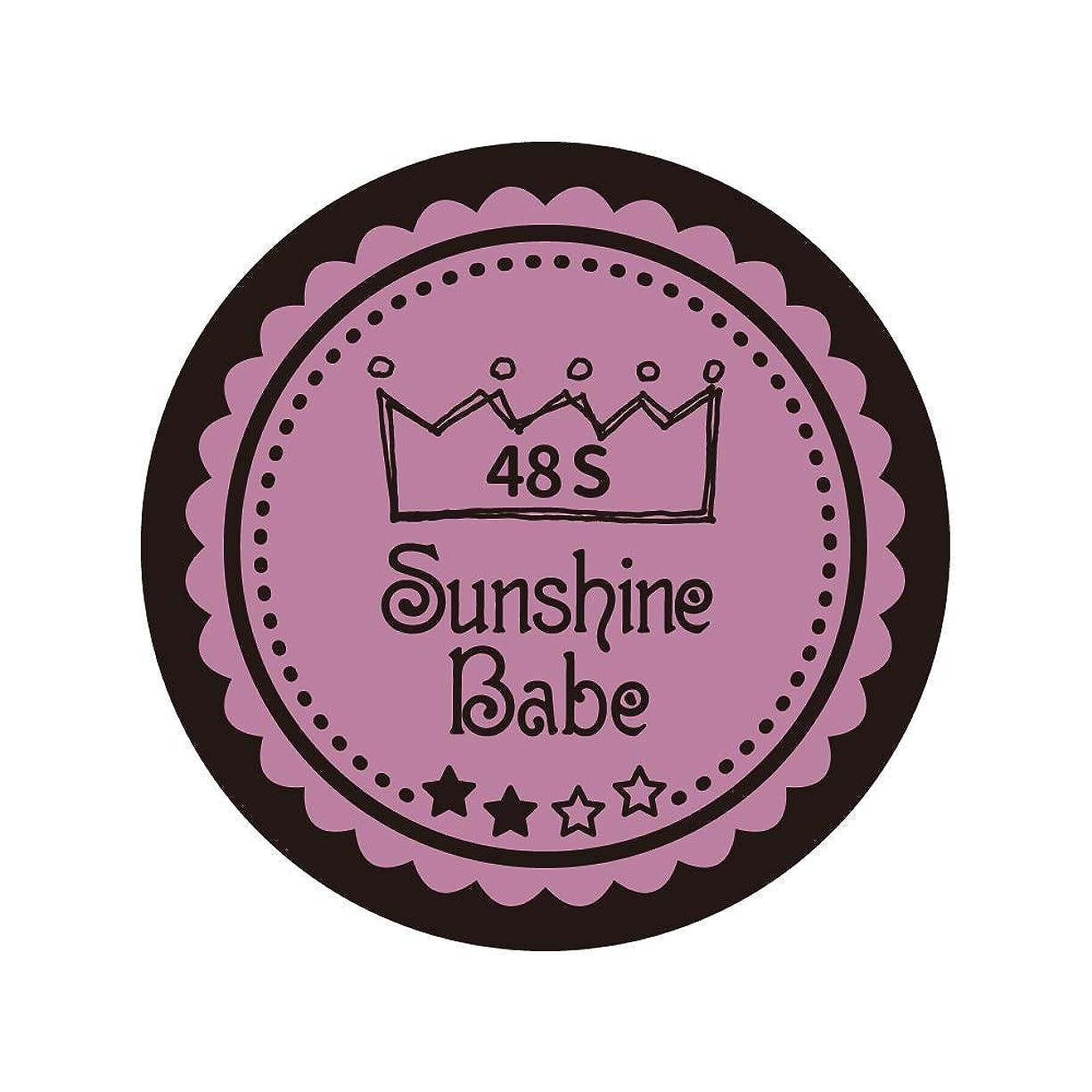 表現落ち着いて主導権Sunshine Babe カラージェル 48S ペールモーブ 4g UV/LED対応