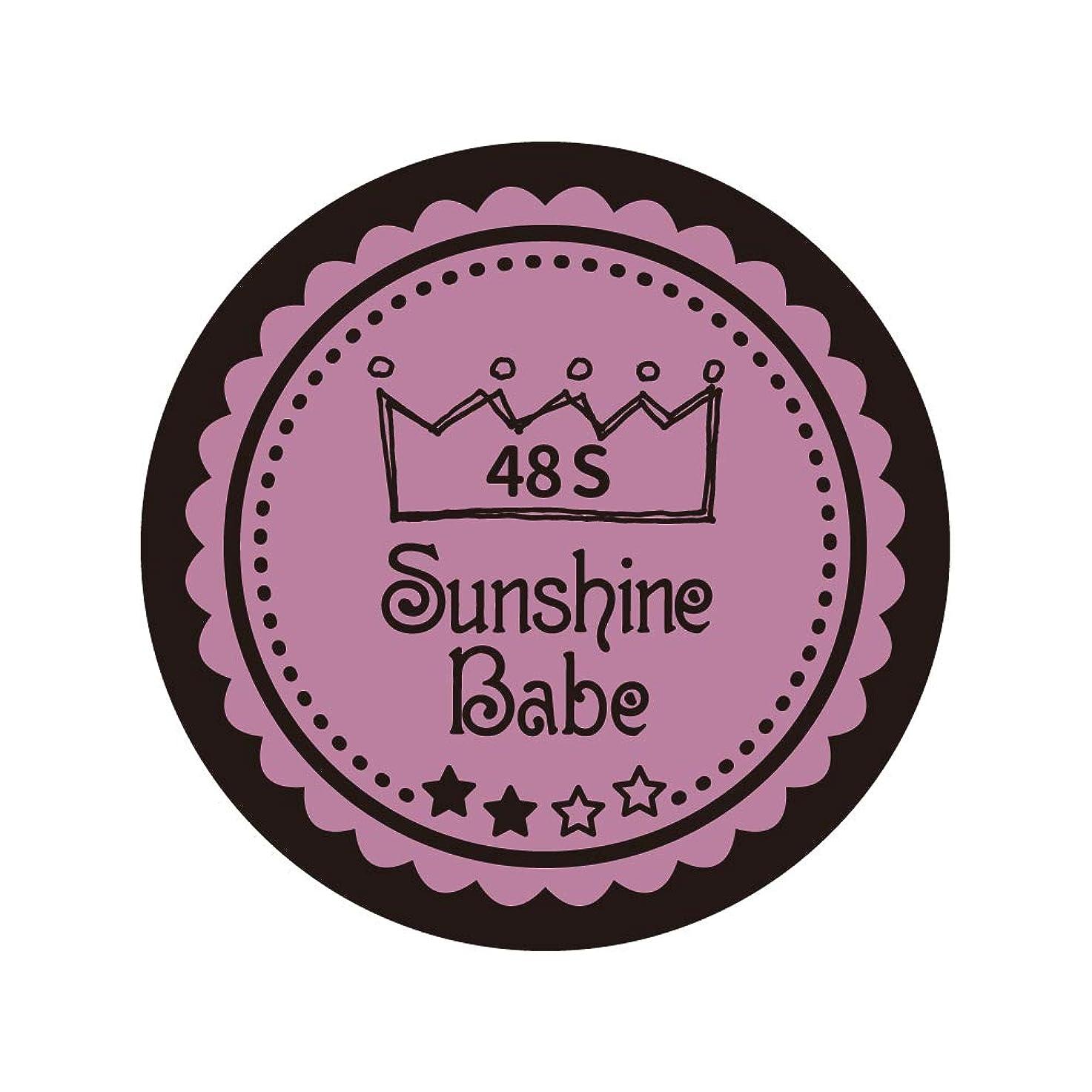 晴れバラバラにする気候Sunshine Babe カラージェル 48S ペールモーブ 4g UV/LED対応