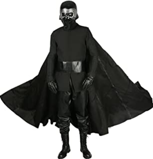 Mens Kylo Ren Cosplay Robe & Under Tunic & Gloves & Scarf & Belt Outfit Costume