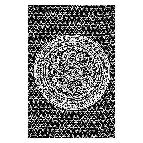 Future Handmade Wandteppich mit Mandala-Motiv, Galaxie, Stern, Sonne, Mond, Batik, Wandbehang, indischer, psychedelischer Hippie-Stil, Strandtuch, Überwurf, bohèmetypischer Stil, DESIGN 20
