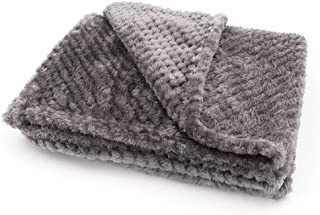 Cupidkiss Fuzzy Blanket Soft Baby Blanket Warm Boy Plush Blankets, Kids Small Soft Cuddly Blankets Baby Blankets for Boys, Newborns and Toddlers Fleece Fabric Small Throw Blanket Grey
