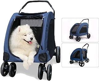 Huisdierentrolley, hondenbuggy Huisdierenbuggy voor honden Grote huisdierenbuggy Opvouwbare huisdiertrolley met 4 wielen 5...