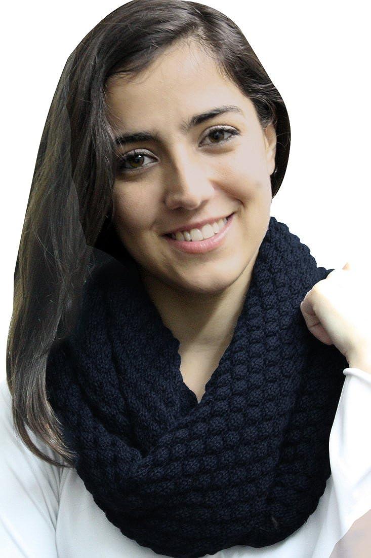 Womens Superfine Alpaca Yarn And Merino Wool Honeycomb Infinity Scarf