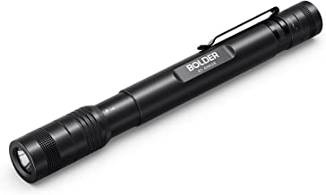 Anker Bolder P2 LED Flashlight, 120 Lumens, IPX5 Water-Resistant, Rechargeable, 900mAh NiMH Battery ×2 Included, 2 Modes (High Beam, Low Beam)