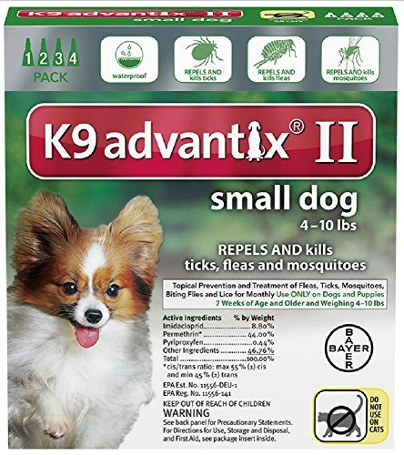 Bayer Animal Health NEW K9 Advantix II Extra Large XL Dog 4 Pack