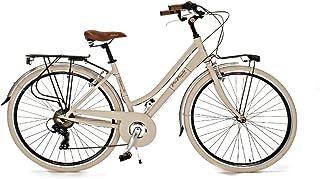 comprar comparacion Via Veneto Retro ALU, Cuadro de Aluminio, Ruedas 700C, Frenos V-Brake (Beige)