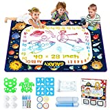 Jasonwell Aqua Magic Doodle Mat - 40 x 28 Inches Water Drawing Doodling Mat Painting Writing Doodle Board Coloring Mat Educational Toys Gift for Kids Toddlers Age 3 4 5 6 7 8 Year Old Girls Boys (XL)